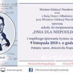 Świętujemy razem 100- lecie Odzyskania Niepodległości