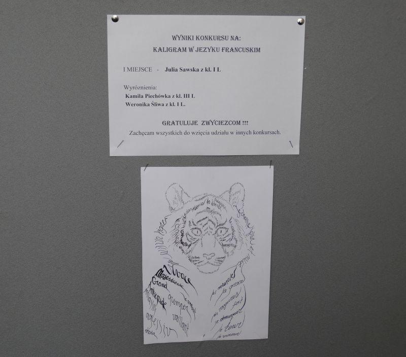 Konkurs na kaligram w języku francuskim